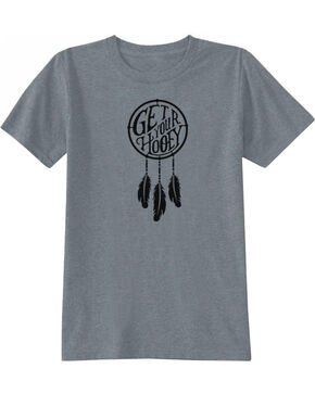 Hooey Girls' Dreamer Short Sleeve T-Shirt, Grey, hi-res