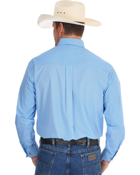 Wrangler Men's Blue George Strait Western Shirt , Blue, hi-res