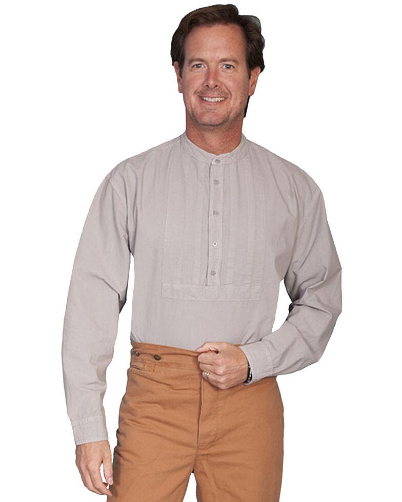 Rangewear by Scully Pleated Inset Bib Shirt - Big & Tall, Grey, hi-res