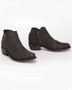Liberty Black Women's Buck Negro Western Booties - Round Toe, Black, hi-res