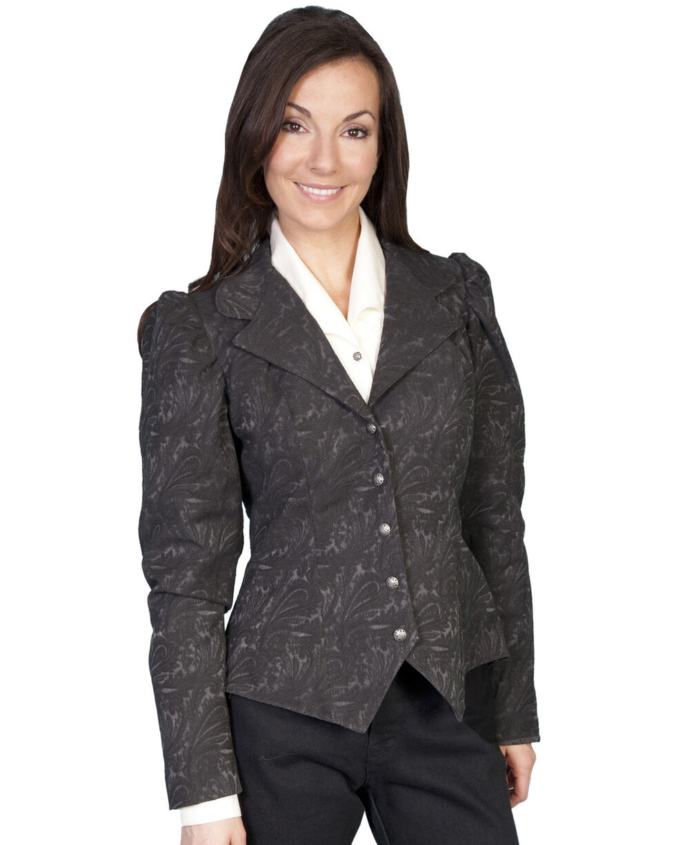 WahMaker by Scully Old West Jacquard Tapestry Jacket, Brown, hi-res