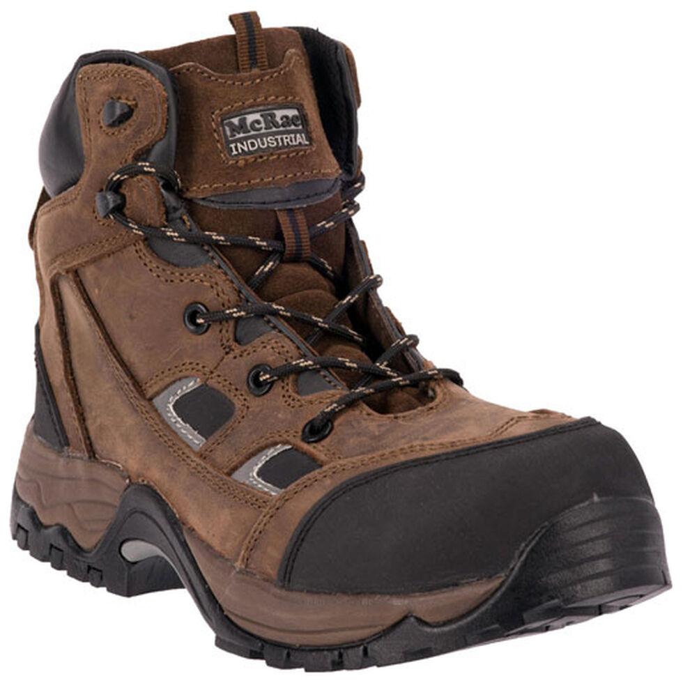 McRae Men's Puncture Resistant Lace-Up Work Boots - Composite Toe, Crazyhorse, hi-res