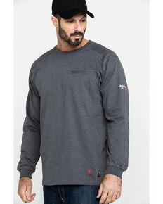 Ariat Men's Charcoal FR Air Henley Long Sleeve Work Shirt , Charcoal, hi-res