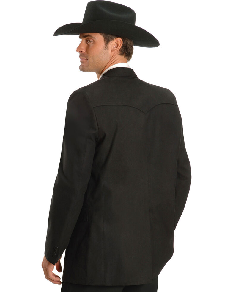 Circle S Microsuede Sport Coat - Reg, Tall, Black, hi-res