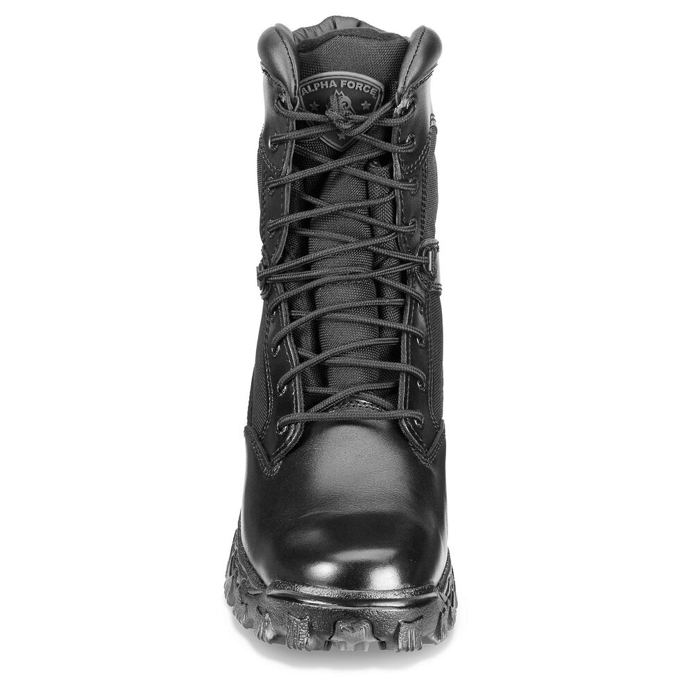 "Rocky 8"" AlphaForce Lace-up Duty Boots, Black, hi-res"