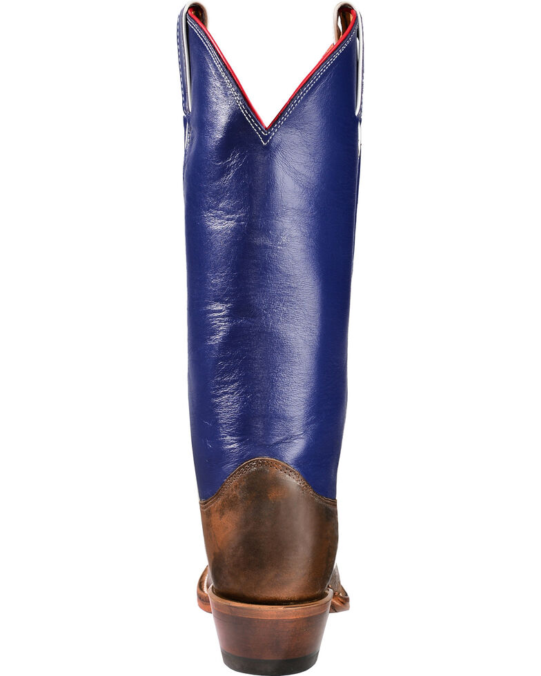 "Justin Boots ""Don't Mess with Texas"" 13"" Cowgirl Boots - Square Toe, Cognac, hi-res"