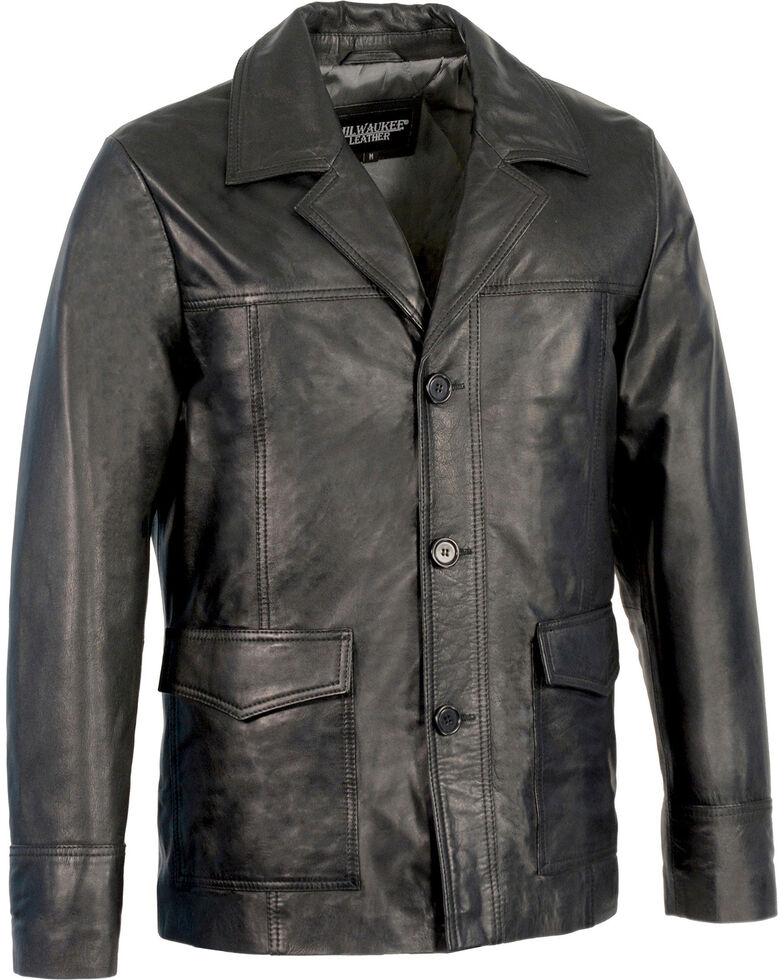 Milwaukee Leather Men's Leather Car Coat Jacket