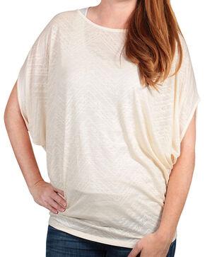 Rock 47 by Wrangler Women's Cap Sleeve Knit Top, Ivory, hi-res