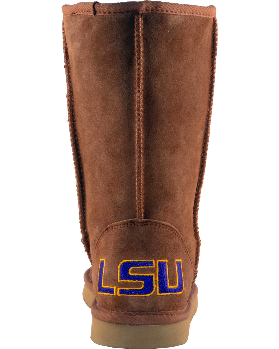Gameday Boots Women's Louisiana State University Lambskin Boots, Tan, hi-res
