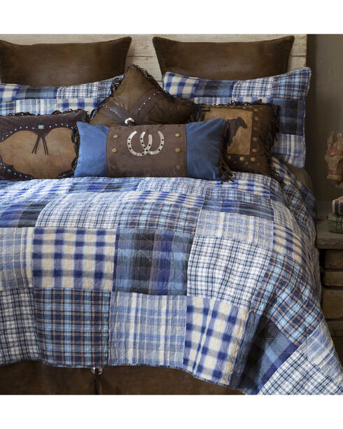 Carstens Ranch Hand Queen Bedding - 5 Piece Set, Blue, hi-res