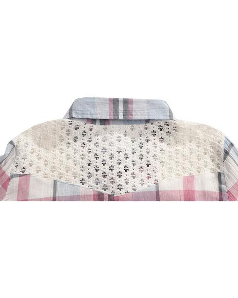 Shyanne Girls' Plaid Flannel Tunic, Ivory, hi-res