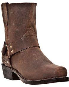 Dingo Men's Rev Up Zipper Motorcycle Boots - Snip Toe, Gaucho, hi-res
