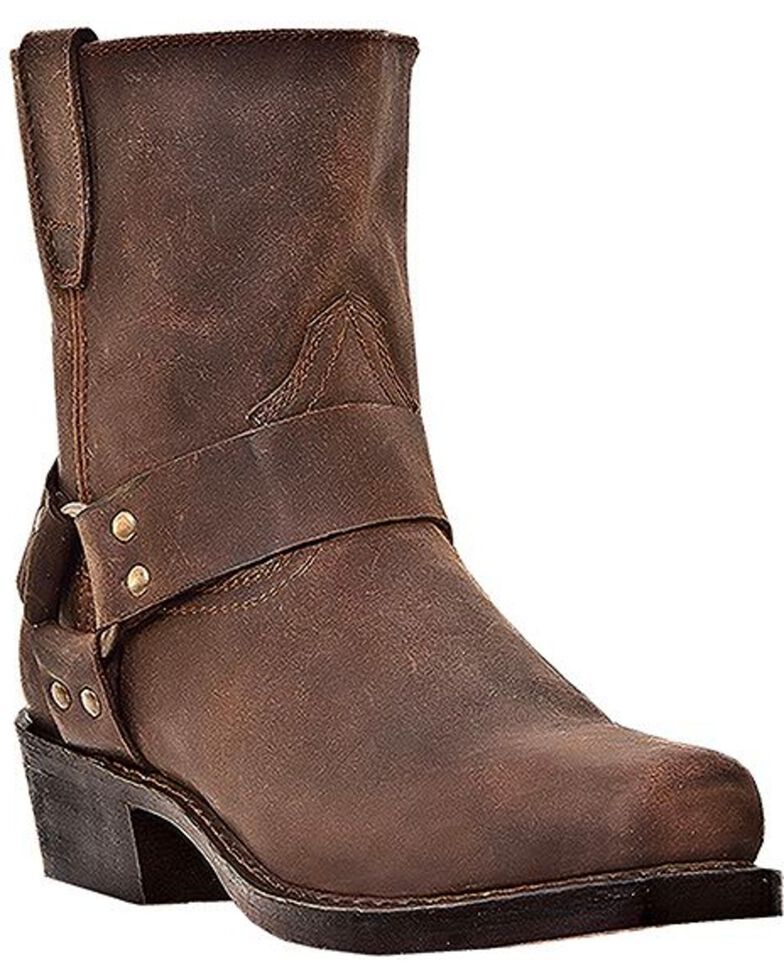 Dingo Men's Rev Up Zipper Motorcycle Boots - Snip Toe, Gaucho, hi-res