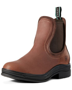 Ariat Women's Keswick Waterproof Chelsea Boots - Round Toe, Brown, hi-res