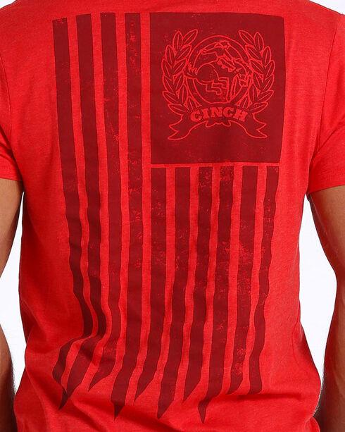 Cinch Men's American Flag Logo Tee, Red, hi-res