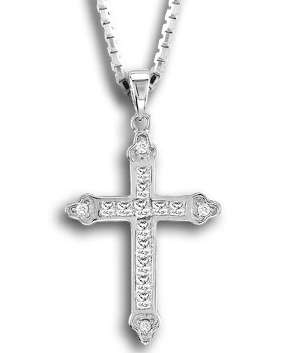 Kelly Herd Women's Silver Cross Pendant Necklace , Silver, hi-res