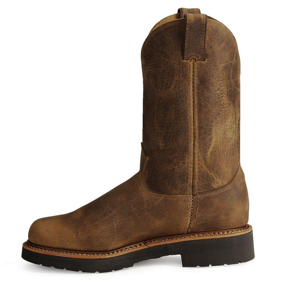 Justin Men's J-Max Blueprint Bay Gaucho EH Pull-On Work Boots - Steel Toe, Tan, hi-res