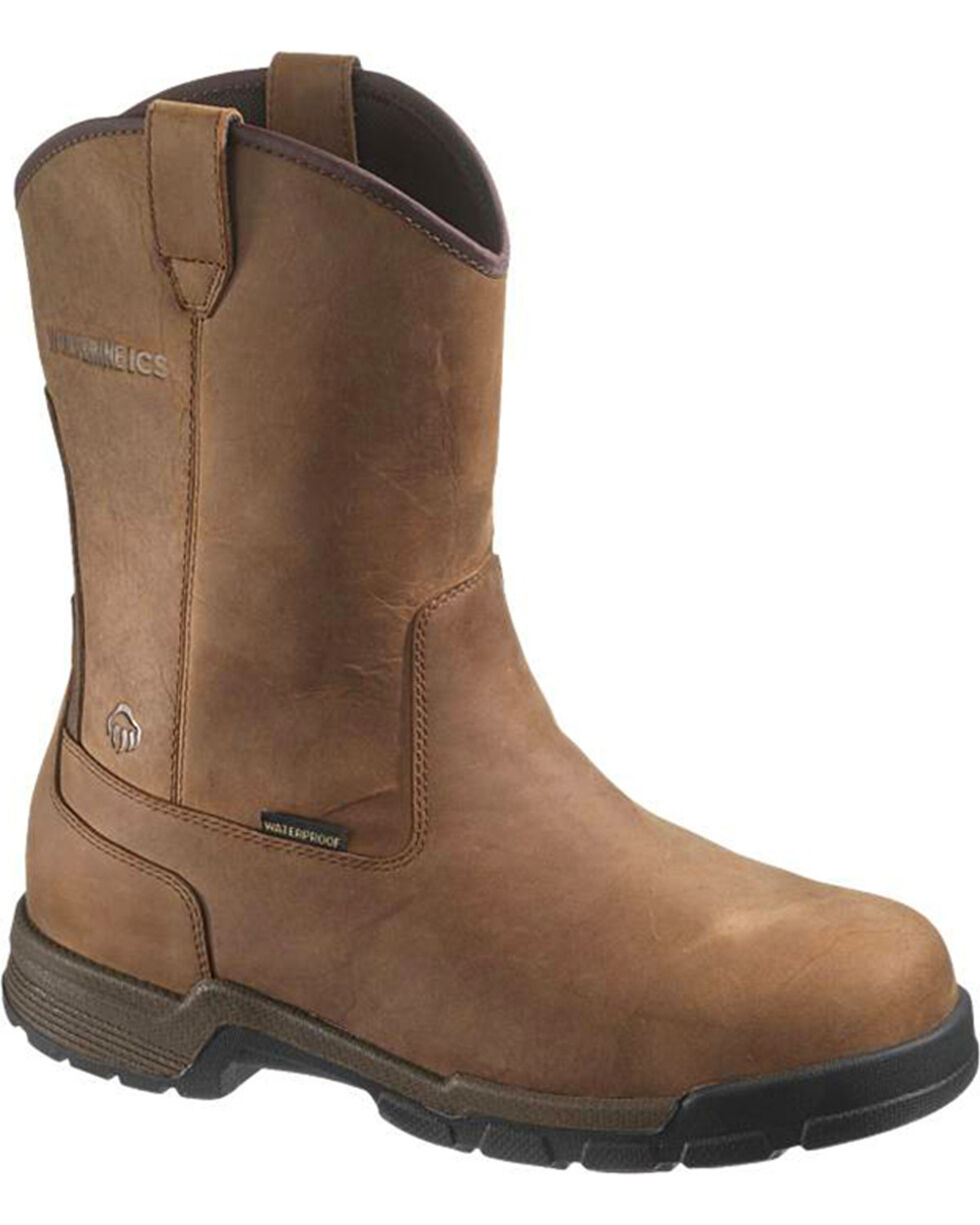 Wolverine Men's Gear EH Waterproof Wellington Boots - Composite Toe, Brown, hi-res