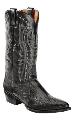 Dan Post Men's Teju Lizard Western Boots - Medium Toe, Black, hi-res