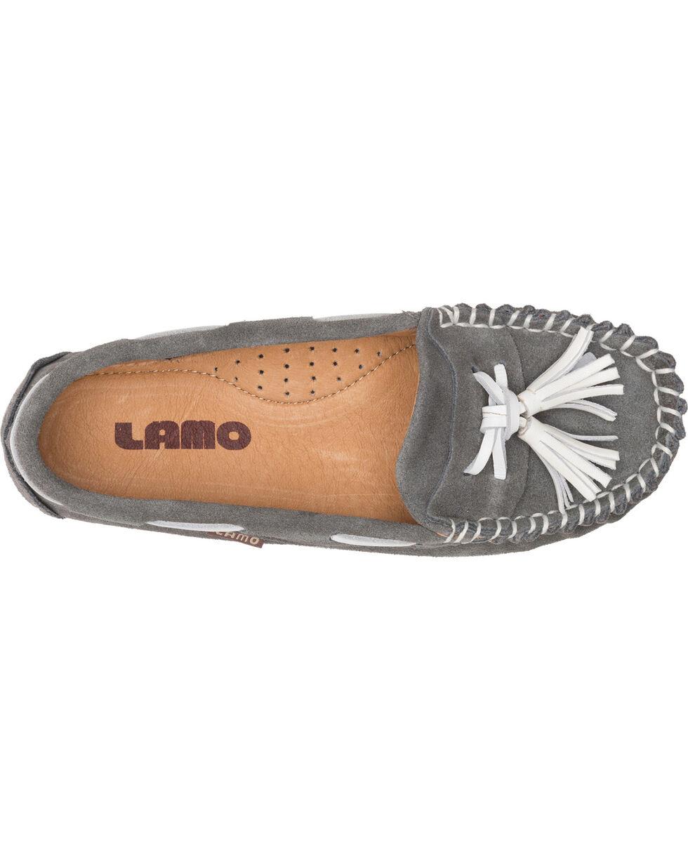 Lamo Women's Leah Tasseled Moccasins , Grey, hi-res