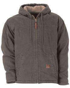 Berne Washed Hooded Work Coat, Grey, hi-res