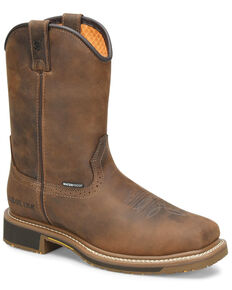 Carolina Men's Anchor Waterproof Western Work Boots - Soft Toe, Brown, hi-res
