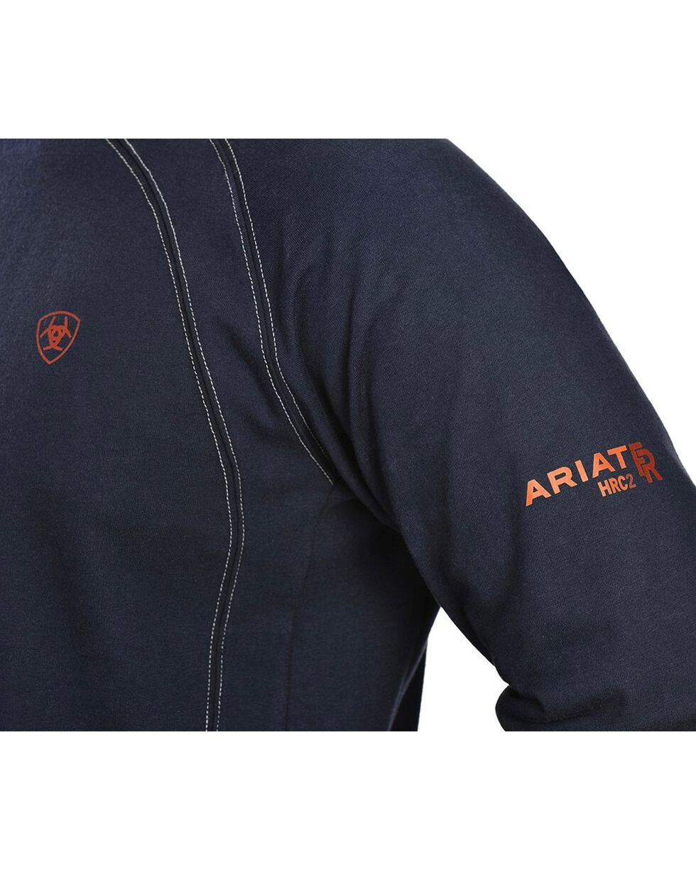 Ariat Flame Resistant Crew Work Shirt, Navy, hi-res