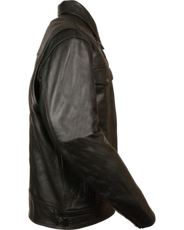 Milwaukee Leather Men's Utility Vented Cruiser Jacket - Tall, Black, hi-res