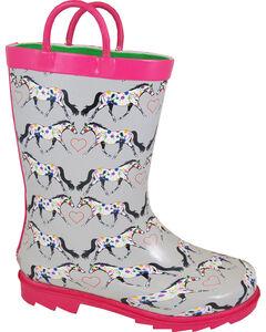 Smoky Mountain Toddler Girls' Horseplay Waterproof Boots, Grey, hi-res