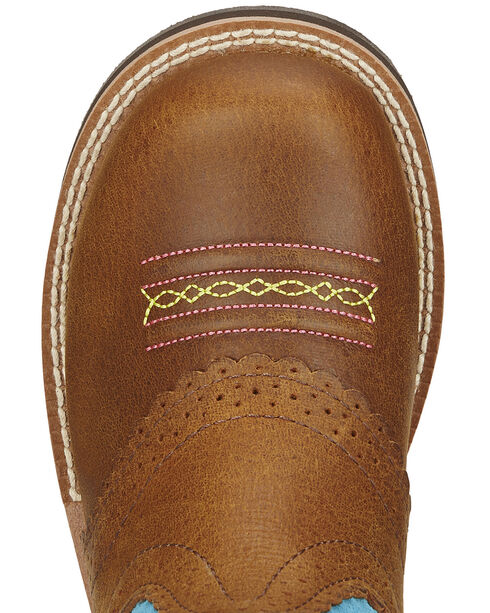 Ariat Fatbaby Girls' Blue Cowgirl Boots - Round Toe, Tan, hi-res