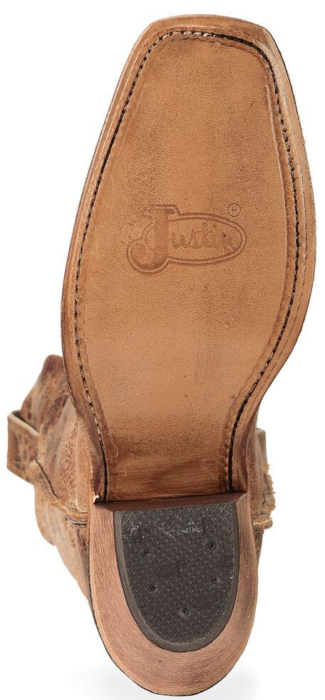 Justin Bent Rail Women's Wildwood Cowgirl Boots - Square Toe, Tan Distressed, hi-res