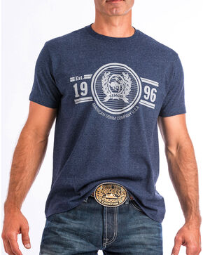 Cinch Men's Logo Short Sleeve Tee, Navy, hi-res