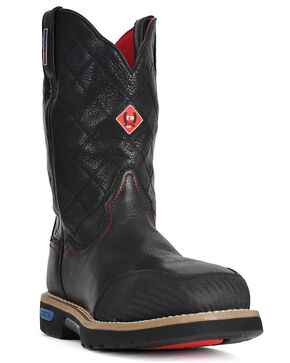 Cinch® WRX Men's Flame Resistant Steel Toe Work Boots, Black, hi-res