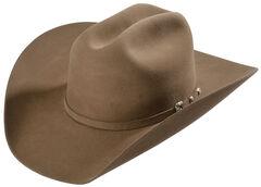 Justin 8X Fur Felt Mustang Cowboy Hat, Fawn, hi-res
