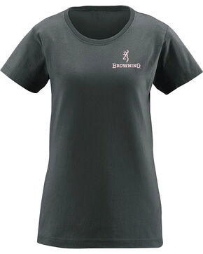 Browning Women's Cowboy Boot Graphic Tee , Charcoal, hi-res