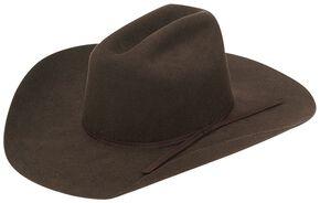 Twister Youth Wool Felt Western Hat, Chocolate, hi-res