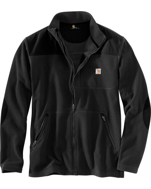 Carhartt Men's Fallon Full Zip Mock Neck Fleece Jacket, Black, hi-res