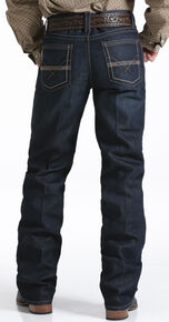 Cinch Men's Grant Dark Rinse Sorbtek Relaxed Fit Bootcut Jeans, Indigo, hi-res