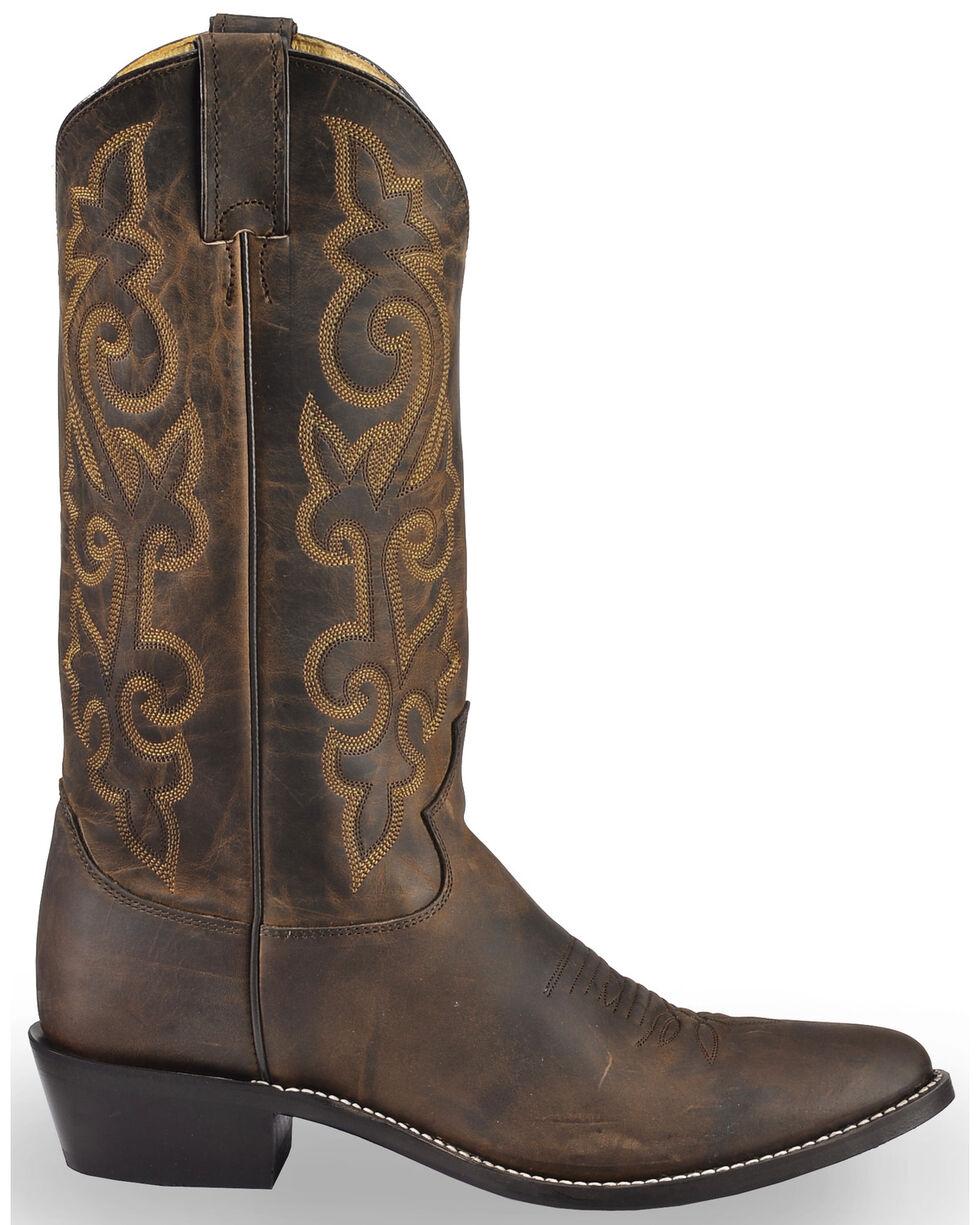 Justin Bay Apache Leather Cowboy Boots - Medium Toe, Brown, hi-res