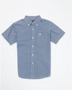 Ariat Boys' Birkin Tile Print Short Sleeve Western Shirt , Multi, hi-res