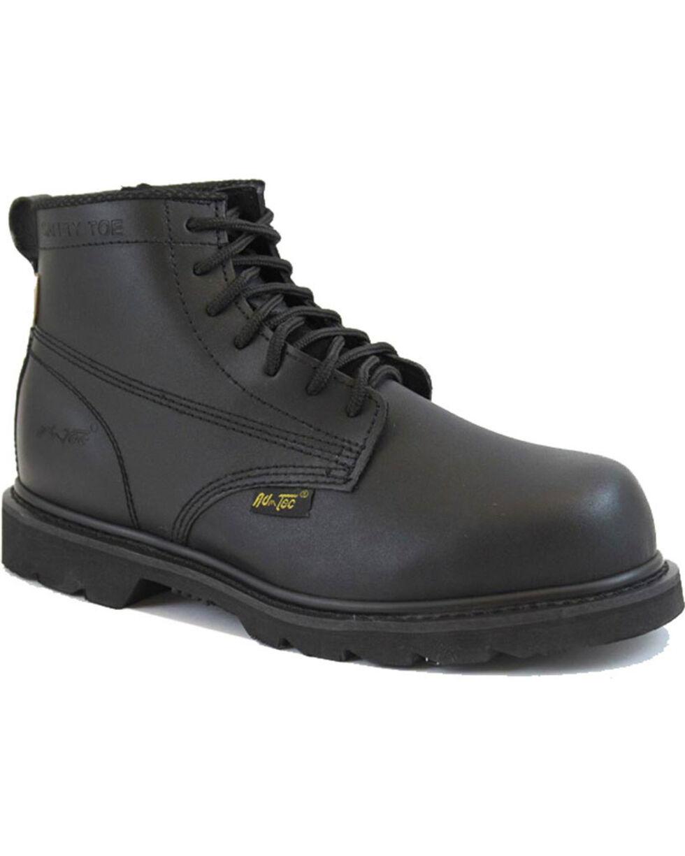 """Ad Tec Men's 6"""" Lace Up Uniform Boots - Comp Toe, Black, hi-res"""
