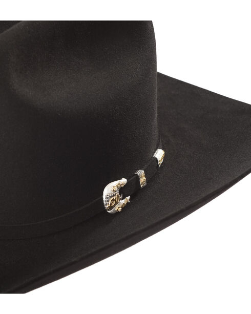Larry Mahan Black Imperial 1000X Felt Hat , Black, hi-res