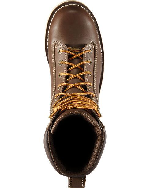 "Danner Men's Brown Quarry USA 8"" Wedge Work Boots - Alloy Toe , Brown, hi-res"