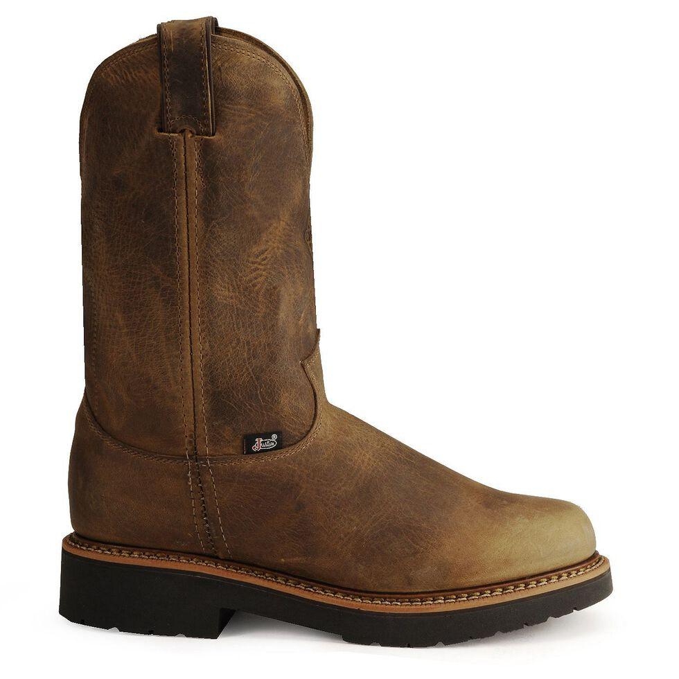 30173600ab9 Justin Men's J-Max Blueprint Bay Gaucho EH Pull-On Work Boots - Steel Toe