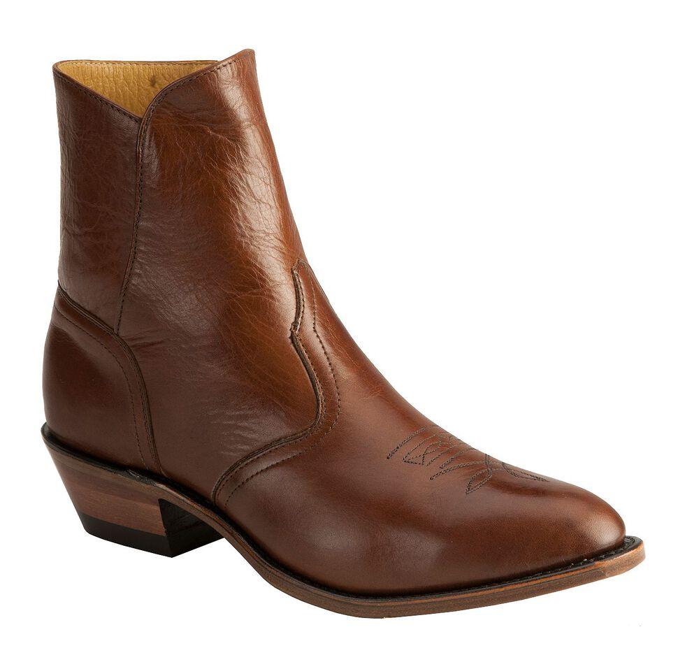 Boulet Western Dress Side Zip Boots - Medium Toe, Tan, hi-res