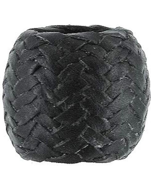 M&F Western Black Rawhide Scarf Slide Ring, Black, hi-res