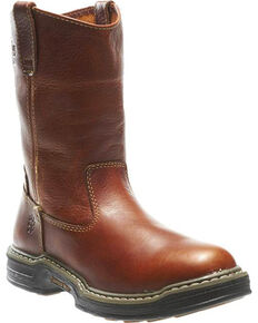 Wolverine Men's Raider Wellington Work Boots - Round Toe, Brown, hi-res