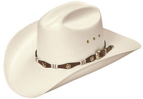 "Master Hatters Captain Low Cattleman 4"" Pro Rodeo 20X Cowboy Hat, Natural, hi-res"