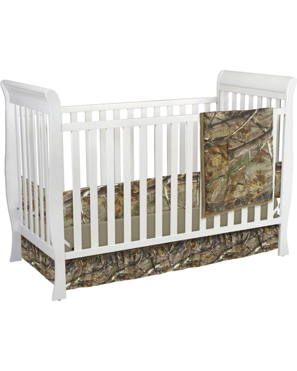 Carstens Realtree AP Camo Crib Set   3 Piece , Green, Hi Res