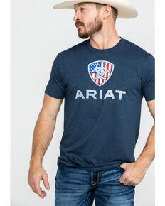Ariat Men's Liberty USA Graphic T-Shirt, Navy, hi-res